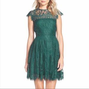 BB Dakota teal lace size 0 dress